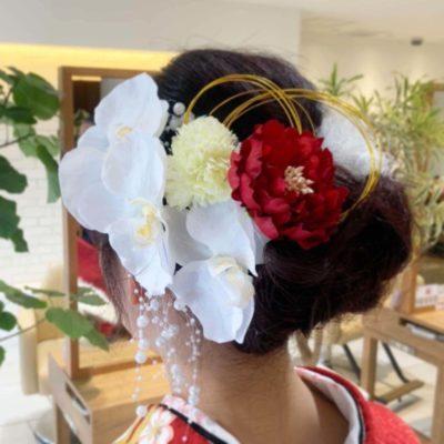 成人式髪飾り (1)